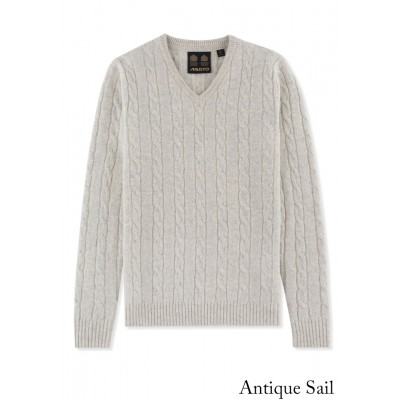 Musto Cable V Neck Knit
