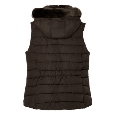 Joules Merrium Gilet with Fur Collar Trim
