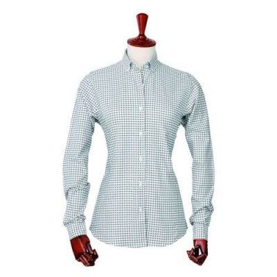 Laksen Anne Oxford Stalker Shirt in Green